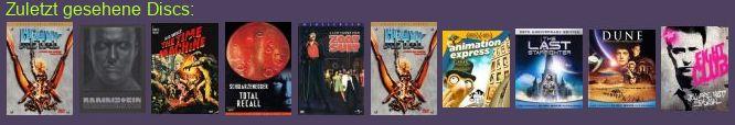 zuletzt gesehene DVDs